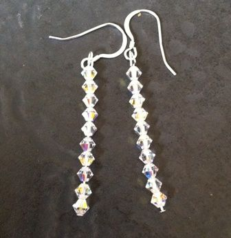 Swarovski AB Earrings (clear AB) SE01-L