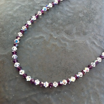 Swarovski Crystal AB Necklace (Amethyst/AB) WAS £38 SN03